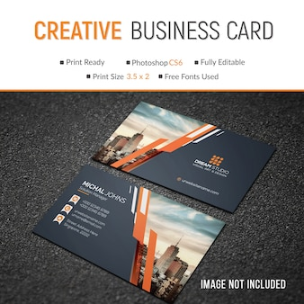 Visiting card vectors photos and psd files free download mockup of business card with photo of city reheart Choice Image