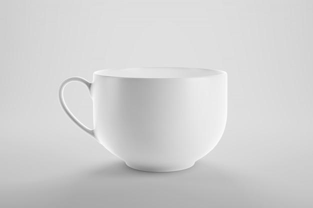 きれいなスタジオシーンでのコーヒーまたは紅茶のカップのモックアップ