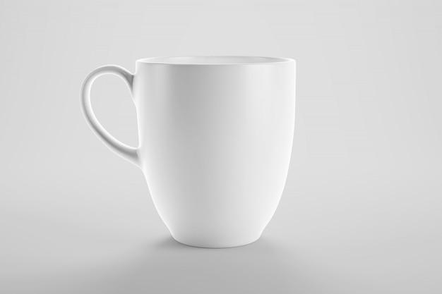 깨끗 한 스튜디오 장면에서 커피 또는 차 컵 이랑