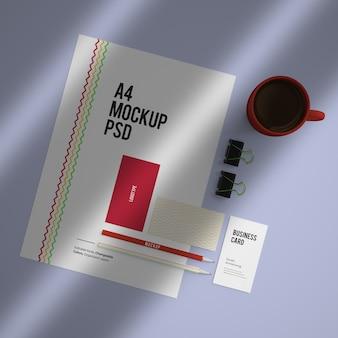 変更可能な色を使用した企業の固定ブランディングデザインのモックアップ