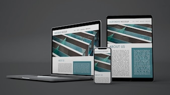 Mockup of electronic devices