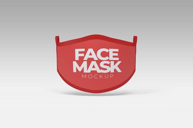 フェイスマスクの正面図のモックアップ