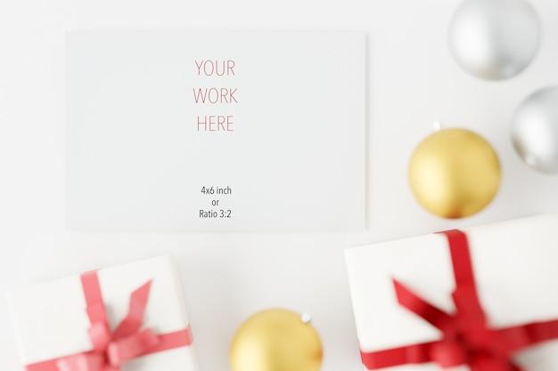 장식으로 크리스마스 카드 인사말의 모형
