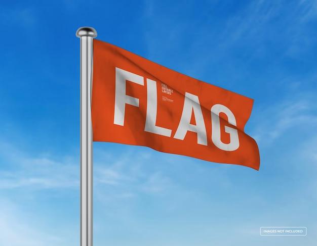 Макет горизонтального развевающегося флага