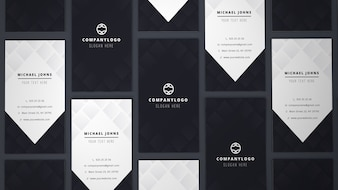 Mockup of many business cards