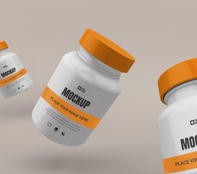 Макет бутылки таблетки медицины изолированы