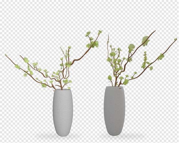 鉢植えの植物のモックアップ