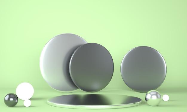 Макет подиума для брендинга 3d рендеринга