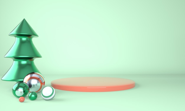 3d 렌더링 브랜딩을위한 연단 모형