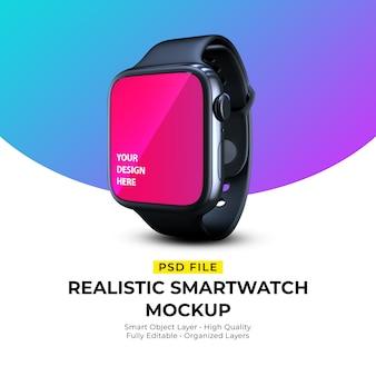 Макет реалистичных элегантных носимых умных часов