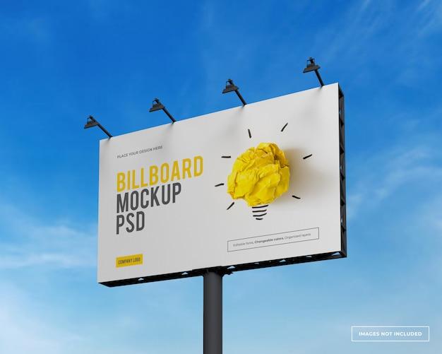 Макет прямоугольного рекламного щита