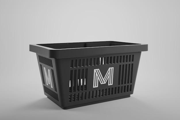 ショッピングバスケットのモックアップ