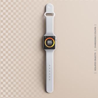 Макет презентации дизайна интерфейса приложения экрана смарт-часов фитнес-устройства