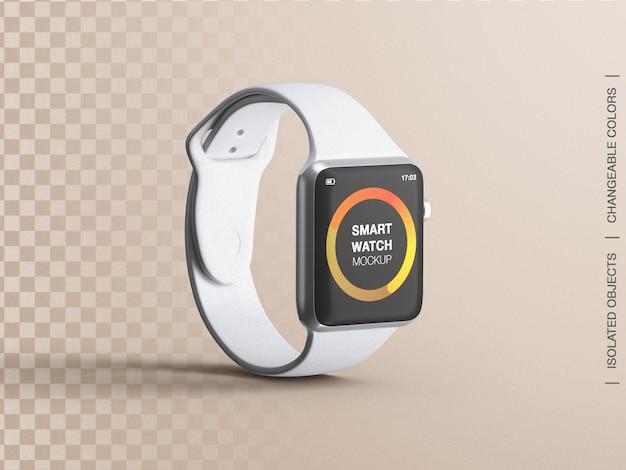 스마트 워치 피트니스 장치 화면 인터페이스 앱 디자인 프레젠테이션 모형