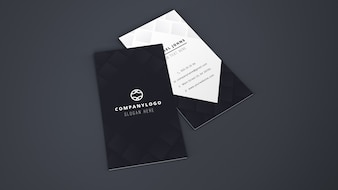 Mockup of two business cards