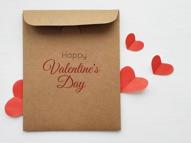 3dイラストでバレンタインデーのモックアップ