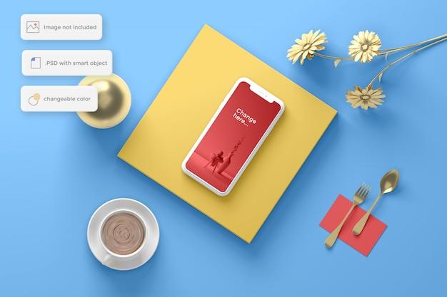 금 개체 평면도와 모형 전화
