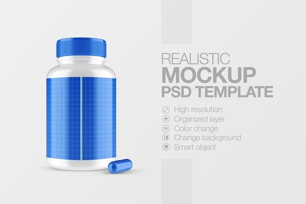 Mockup plastic bottle medicine