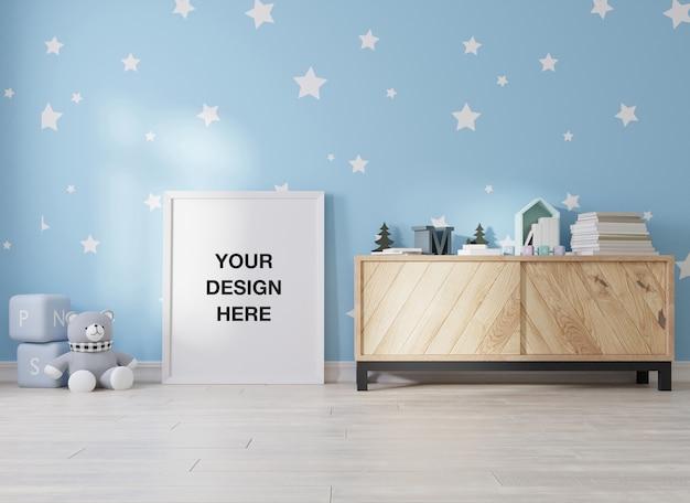 어린이 방 3d 렌더링 모형 포스터 프레임
