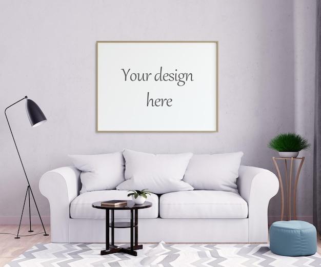 Макет рамки плаката в стиле интерьера