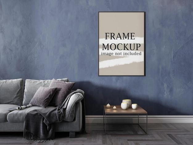 Рамка для макета плаката на стене для ваших идей