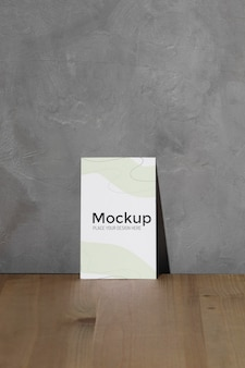 Mockup poster leaning on the wall