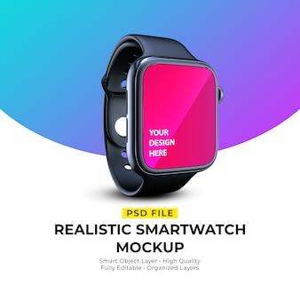 Mockup of realistic elegant smartwatch