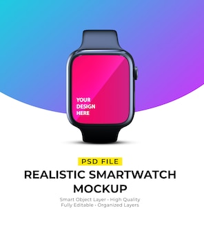 Mockup of realistic elegant wearable smartwatch