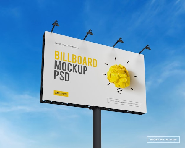 Mockup of rectangular billboard