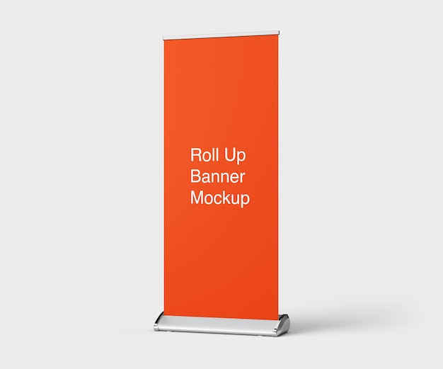 Mockup of roll up banner stand