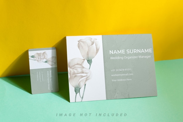 Mockup set with business card and flyer