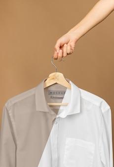 Mockup shirt close up