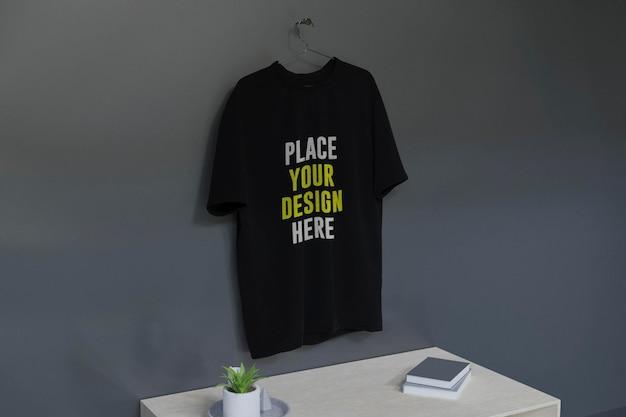 목업 셔츠와 인테리어