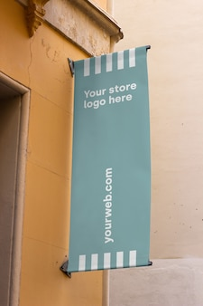 Mockup sign outside shop