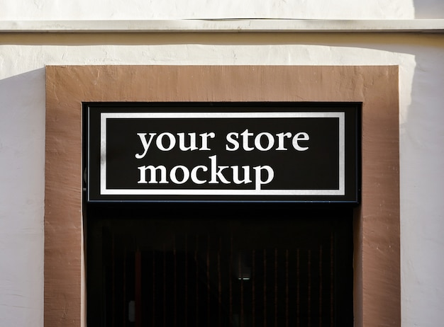 Mockup sign store city