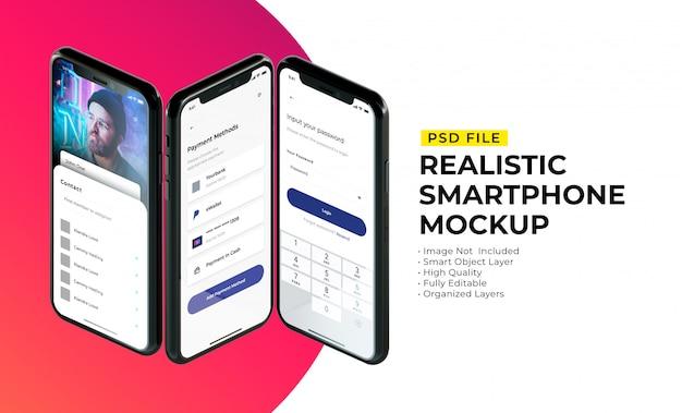 Mockup of smartphone interface