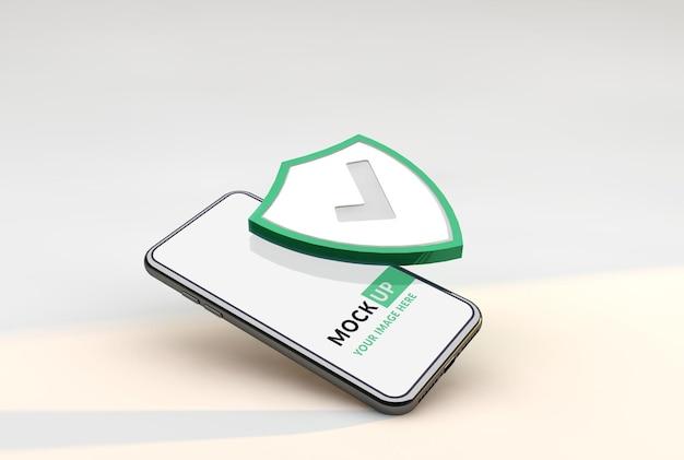 Защита и безопасность мокапа смартфона