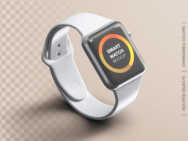 Mockup of sport smartwatch device screen interface app design