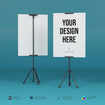 Mockup standing banner and tripod