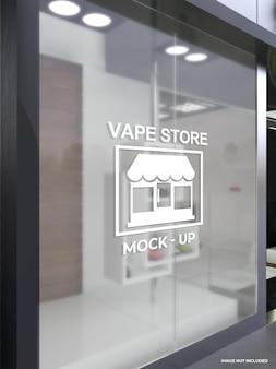Mockup of store glass walls