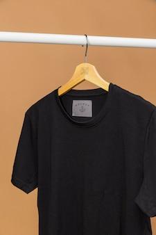 Макет футболки крупным планом