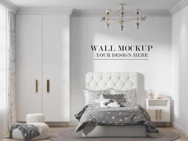 목업 십대 침실 벽