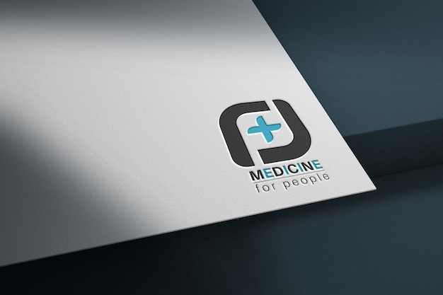 Mockup template on the white paper
