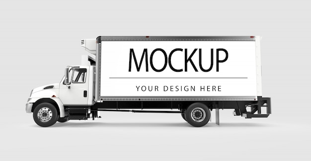 Mockup of a truck isolated