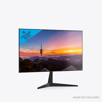 Mockup of a tv isolated on white background