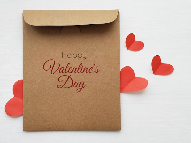 Mockup of valentine's day in 3d illustration