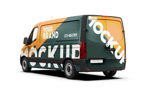 Mockup of a van