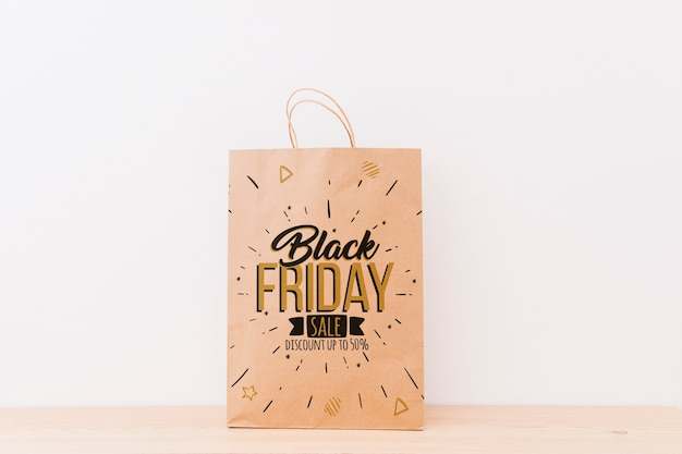 Mockup of various shopping bags for black friday
