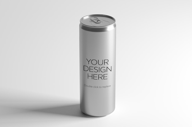 Mockup view of a metal can 3d rendering