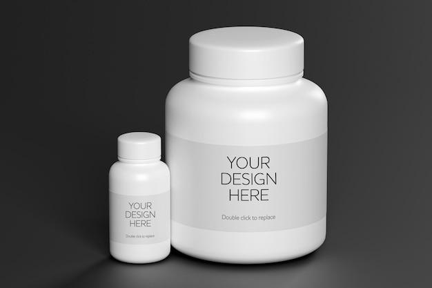 3d-рендеринг макета контейнера с витамином